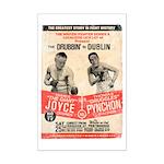 Joyce and Pynchon - Mini Poster Print