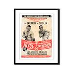 James Joyce and Pynchon - Framed Panel Print
