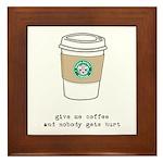 gimme coffee Framed Tile