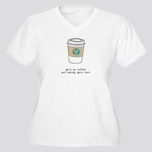 gimme coffee Women's Plus Size V-Neck T-Shirt
