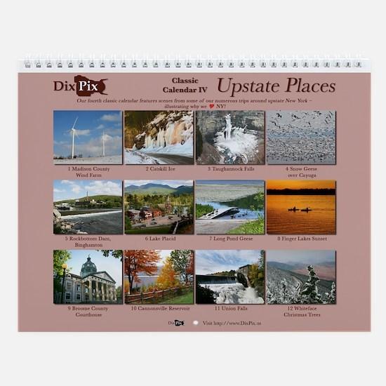 Dixpix Classic 4: Upstate Places Wall Calendar