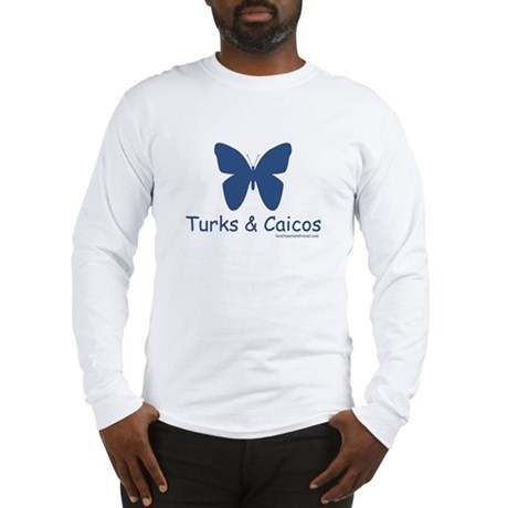 Turks & Caicos Butterfly - Long Sleeve T-Shirt