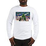 XmasMagic-6 Poodles Long Sleeve T-Shirt