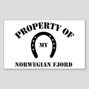 My Norwegian Fjords Rectangle Sticker