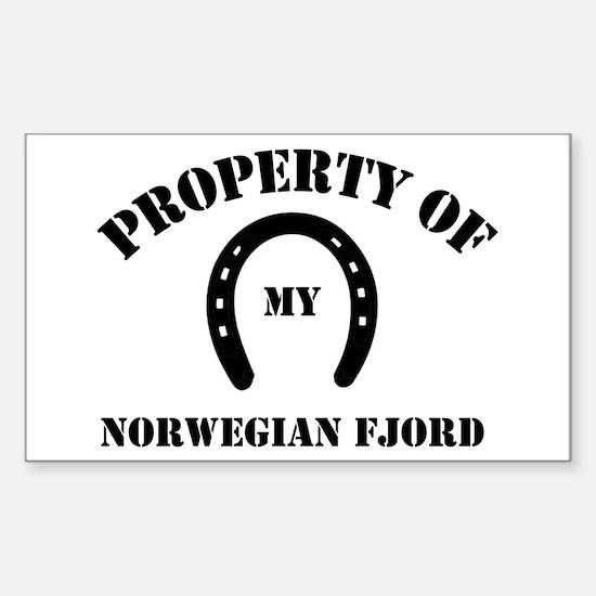 My Norwegian Fjords Rectangle Decal