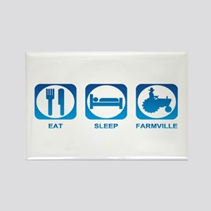 Eat Sleep FarmVille Rectangle Magnet