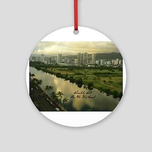 Ala Wai Canal Ornament (Round)