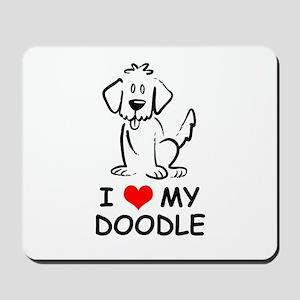 I Love My Doodle Mousepad