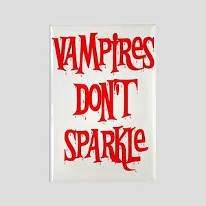 Vampires Don't Sparkle Rectangle Magnet