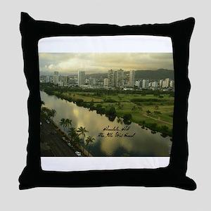 Ala Wai Canal Throw Pillow