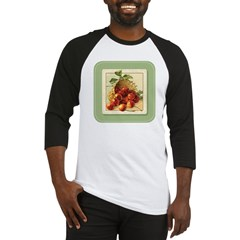 Red Cherries in a Basket Baseball Jersey