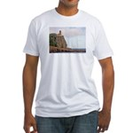 Split Rock Lighthouse Fitted T-Shirt
