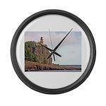 Split Rock Lighthouse Large Wall Clock