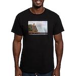 Split Rock Lighthouse Men's Fitted T-Shirt (dark)
