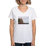 Split Rock Lighthouse Women's V-Neck T-Shirt