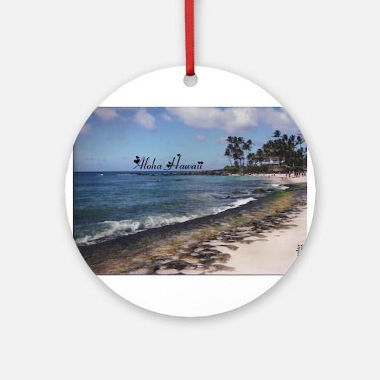 Aloha Sand Ornament (Round)
