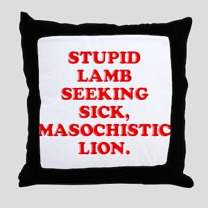 Lamb Seeks Lion Throw Pillow