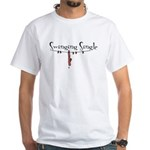 Swinging Single White T-Shirt