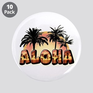 "3.5"" Button (10 pack) ""Aloha"""
