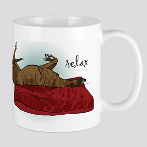 Relax Greyhound Mug