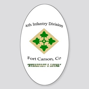 """4th inf div """"Steadfast and lo Oval Sticker"""