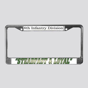 """4th inf div """"Steadfast and lo License Plate F"""