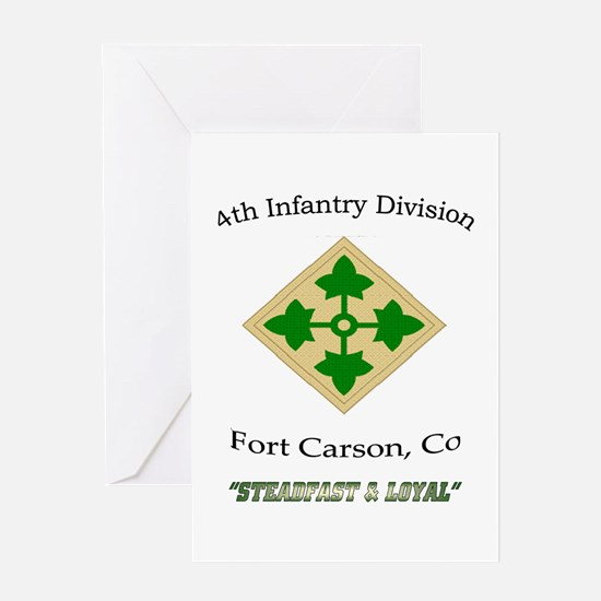 "4th inf div ""Steadfast and lo Greeting Card"
