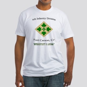 "4th inf div ""Steadfast and lo Fitted T-Shirt"