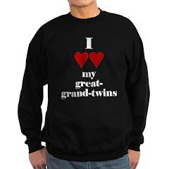 Heart my great-grand-twins Sweatshirt