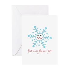 grumpy snowflake Greeting Card