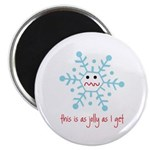 """grumpy snowflake 2.25"""" Magnet (100 pack)"""