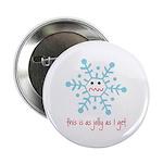 "grumpy snowflake 2.25"" Button (100 pack)"