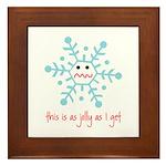 grumpy snowflake Framed Tile