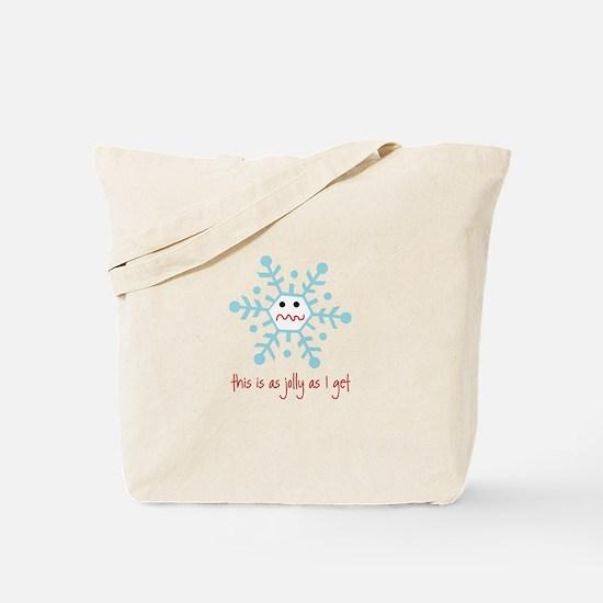 grumpy snowflake Tote Bag