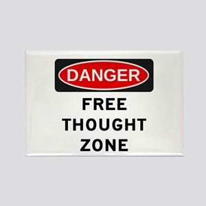 Free Thought Rectangle Magnet