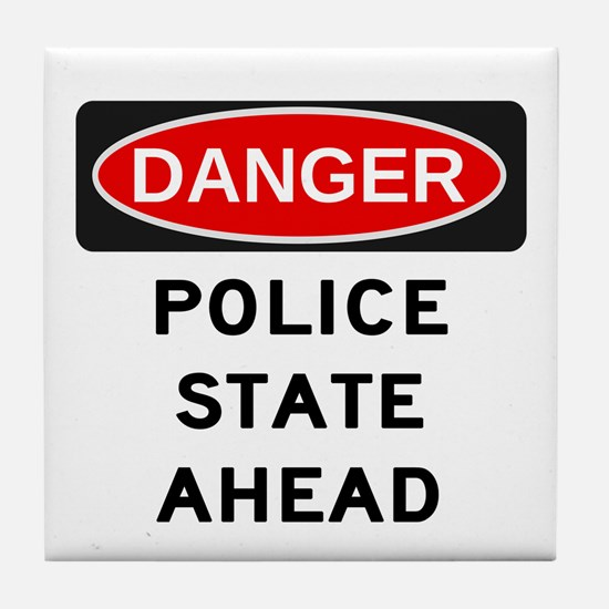 Police State Tile Coaster