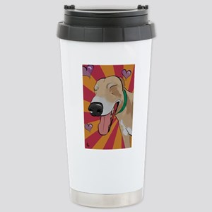 Love Greyhound Stainless Steel Travel Mug