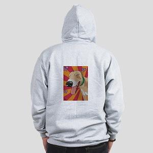 Love Greyhound Zip Hoodie