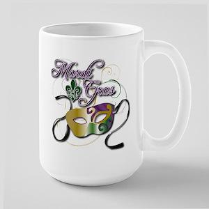 Mardi Gras 3 Large Mug