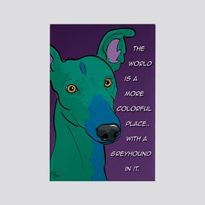 Colorful Greyhound Rectangle Magnet