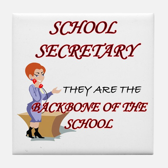 Unique School secretary day Tile Coaster