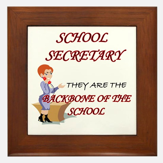 Secretary Framed Tile