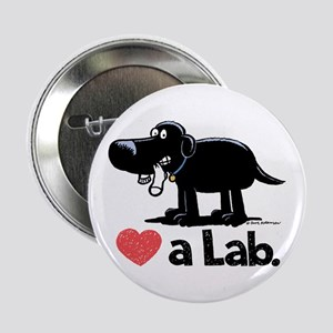 "Love a Lab (Black) - 2.25"" Button"