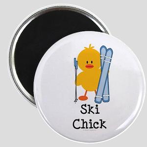 Ski Chick Magnet
