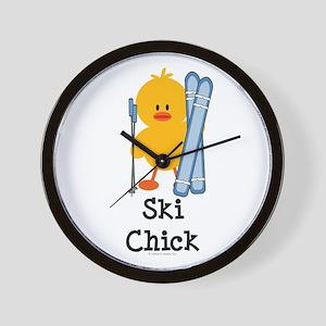 Ski Chick Wall Clock