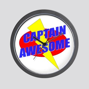Captain Awesome Wall Clock
