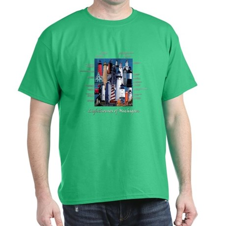 Lighthouses of Michigan Dark T-Shirt