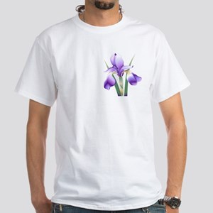 Logo back, small iris white T-shirt