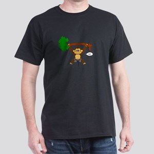 """Monkey Boy"" Rock Climbing Black T-Shirt"