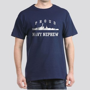 Proud Navy Nephew Dark T-Shirt